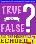 And the Mountains Echoed- True or False?
