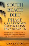 South beach Diet Phase 1, 2 & 3 EXPOSED! Pros & Cons. Do's & Don'ts. With 300+ South Beach Diet Food List for Shopping, 7 day South Beach Diet Meal Plan, South Beach Diet Recipes