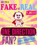 Are You a Fake or Real One Direction Fan? Blue Version - The 100% Unofficial Quiz and Facts Trivia Travel Set Game