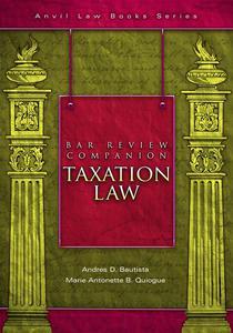Bar Review Companion: Taxation
