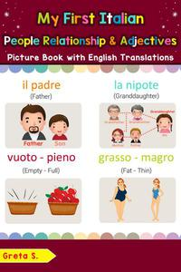 My First Italian People, Relationships & Adjectives Picture Book with English Translations