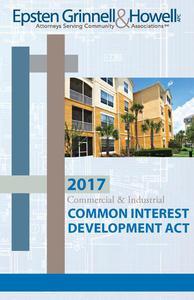 2017 Commercial & Industrial Common Interest Development Act