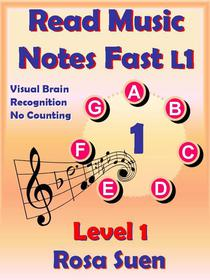 Read Music Notes Fast Level 1 -  Visual Brain Recognition, No Counting