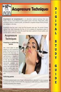 Acupressure Techniques ( Blokehead Easy Study Guide)