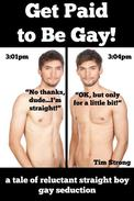 Get Paid to Be Gay! (A Tale of Reluctant Straight Boy Gay Seduction)