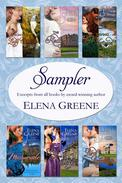 Sampler: Excerpts from all books by award-winning author Elena Greene