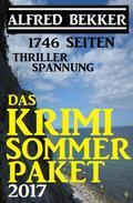 1746 Seiten Thriller Spannung: Das Alfred Bekker Krimi Sommer Paket 2017