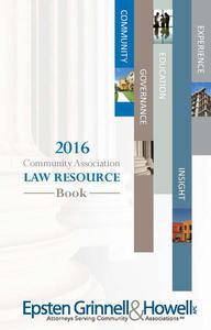 2016 Community Association Law Resource Book