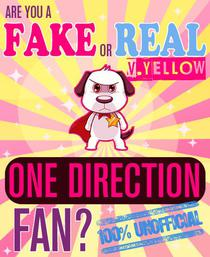 Are You a Fake or Real One Direction Fan? Yellow Version - The 100% Unofficial Quiz and Facts Trivia Travel Set Game