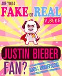 Are You a Fake or Real Justin Bieber Fan? Blue Version - The 100% Unofficial Quiz and Facts Trivia Travel Set Game
