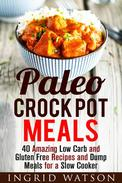 Paleo Crock Pot Meals: 40 Amazing Low Carb and Gluten Free Recipes and Dump Meals for a Slow Cooker