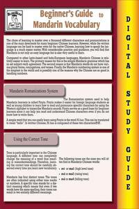 Mandarin Vocabulary ( Blokehead Easy Study Guide)