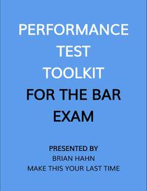 Performance Test Toolkit (for the Bar Exam)