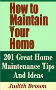 How to Maintain Your Home: 201 Great Home Maintenance Tips And Ideas