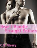 Year 1 Bundle Straight Edition (Monster Werewolf Billionaire Arranged Marriage Cowgirl Tying First Time Virgin Multiple Partner Erotica)