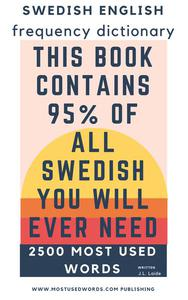 Swedish English Frequency Dictionary - Essential Vocabulary - 2500 Most Used Words