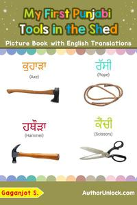 My First Punjabi Tools in the Shed Picture Book with English Translations