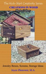 Creations in Wood Photo Gallery -- Jewelry boxes, Screens, Storage boxes