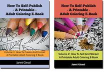 How To Self-Publish A Printable Adult Coloring E-Book (2 in 1 Book Set)