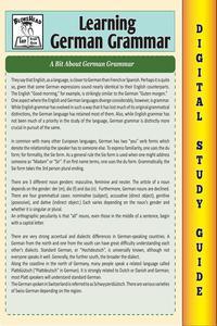 German Grammar (Blokehead Easy Study Guide)