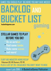 Backlog and Bucket List Gaming Issue 1