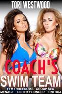 Coach's Swim Team (FFM Threesome Group Sex Menage Older Younger Erotica)
