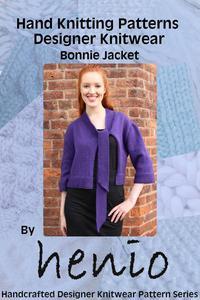 Hand Knitting Pattern: Designer Knitwear: Bonnie Jacket