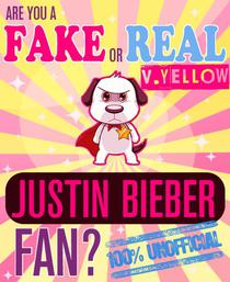 Are You a Fake or Real Justin Bieber Fan? Yellow Version - The 100% Unofficial Quiz and Facts Trivia Travel Set Game