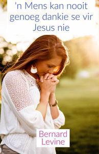 'n Mens kan nooit genoeg dankie se vir Jesus nie