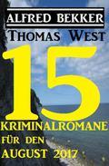 15 Kriminalromane für den August 2017
