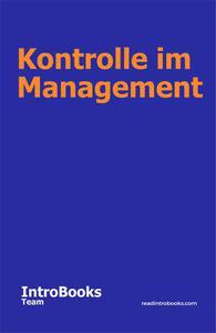 Kontrolle im Management