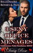 3 Sexy Office Menages: Billionaire Bosses & Pain