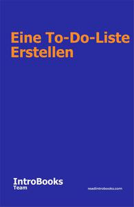 Eine To-Do-Liste erstellen