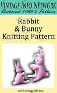 Rabbit and Bunny Knitting Pattern: Stuffed Rabbit Toy Pattern