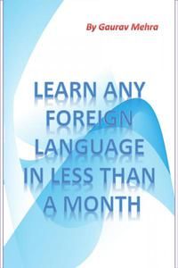 Learn any foreign language in a month