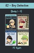 RJ - Boy Detective Books 1-4: 4 Book Bundle - Fun Short Story Mysteries for Kids