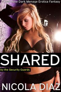 Shared by the Security Guards  - A First Time Dark Menage Erotica Fantasy