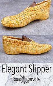 Elegant Slipper: A Knitting Pattern by Dana Gervais