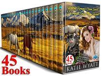 45 Books Western Romance Clean Sweet 12 Complete Series  Mega Box Set