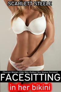 Facesitting in her Bikini (Younger Woman, Older Man, Outdoor Sex, Voyeur, Femdom)
