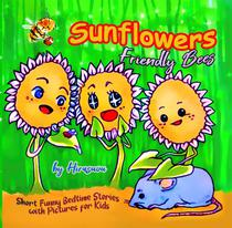 Sunflowers. Friendly Bees