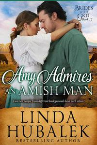 Amy admires an Amish Man