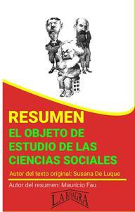 Resumen de El Objeto de Estudio de las Ciencias Sociales
