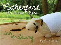 Rutherford the Unicorn Sheep Visits The Apiary