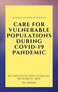 Care For Vulnerable Populations during COVID-19 Pandemic
