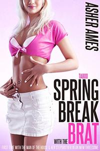 Taboo Spring Break with the Brat: First time with the man of the house & her stepbrother in an MFM threesome