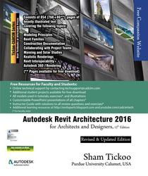 Autodesk Revit Architecture 2016 for Architects and Designers