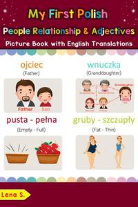 My First Polish People, Relationships & Adjectives Picture Book with English Translations