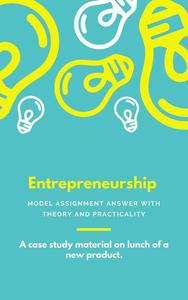 Entrepreneurship: Model Assignment answer with theory and practicality