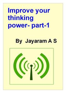 Improve Your Thinking Power- Part-1